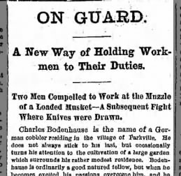 Charles Bodenhousen fights his workers