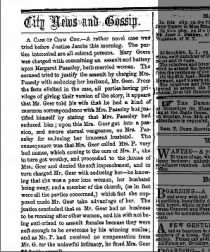 Assault by Mrs. Geer on mrs. Pass elegy for sleeping with her husband. Mormon corresondence