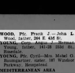 10/6/1944 Frank J. Wood death notice BDE