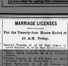 Waacks - Behlmer marriage license