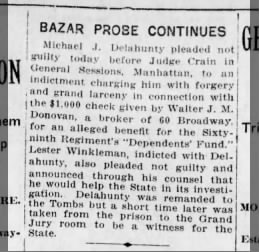 Delahunty mike trial 1917