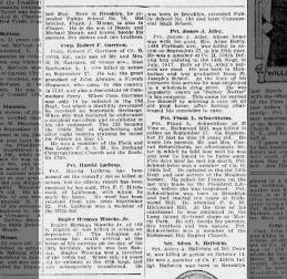 Waacks, Herman jr  KIA Sep 27, 1918