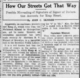 The Brooklyn Daily Eagle 4/23/29 - how our streets got that way