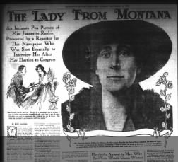 Interview with Jeannette Rankin after she won her first seat seat in Congress