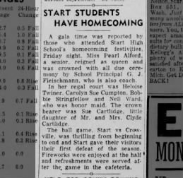 Pearl Wynn - Homecoming Queen in Start