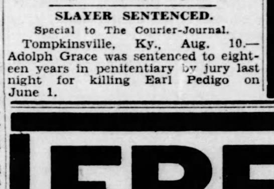 Man sentenced for killing Earl Pedigo