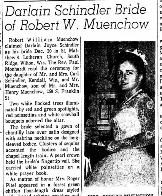 Robert Muenchow wedding