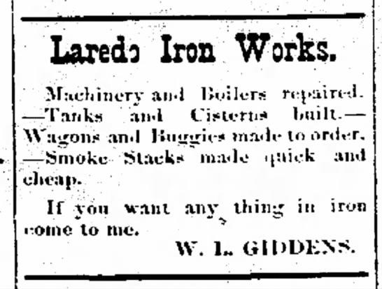 W L Giddens Iron Works