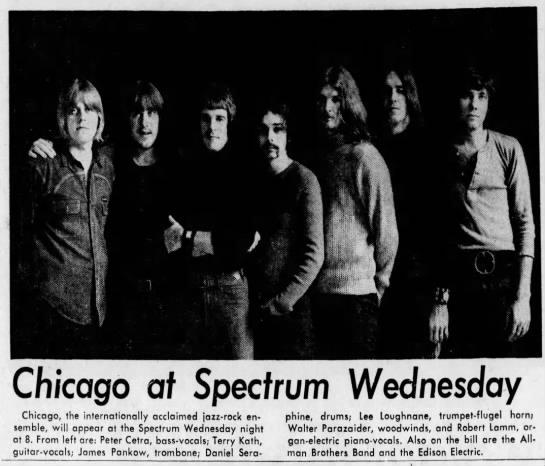 Chicago at Spectrum 8-9-70