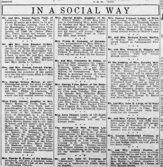 Social news, 1921