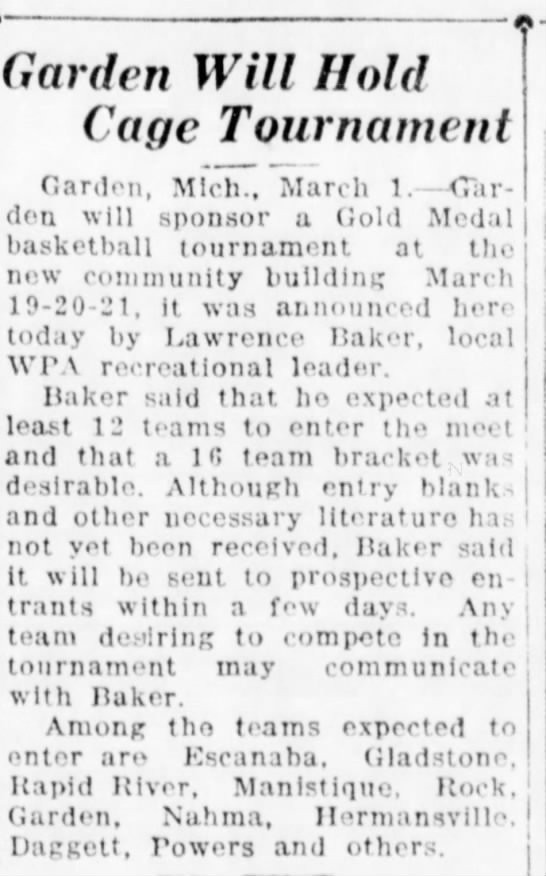 Lawerence Baker - Garden cage tournament