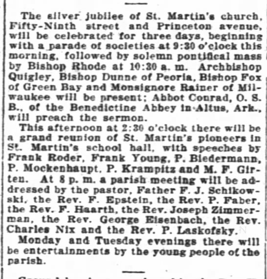 Paul at reunion for St Martin's