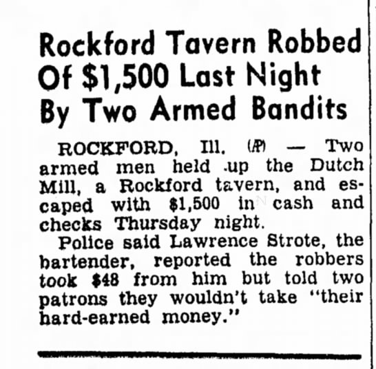 Lawrence Strote Robbery