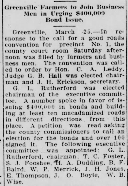 Sam Fooshee - The McKinney Courier-Gazette - Mar. 26, 1912