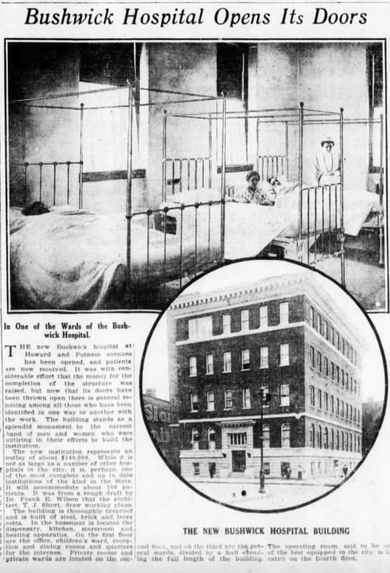 Bushwick Hospital opens its doors