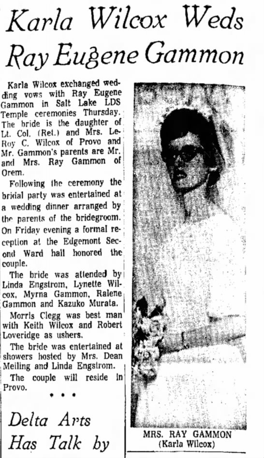 Gene and Karla Gammon wedding
