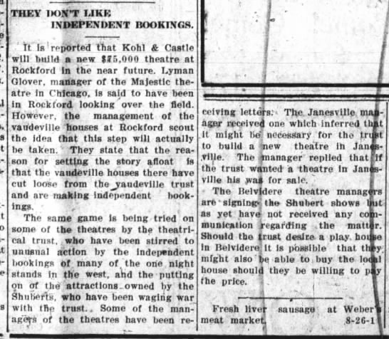 Belvidere Daily Republican Illinois August 26, 1909, Page 4