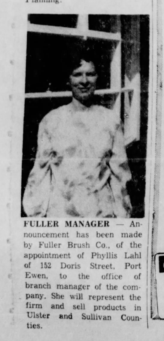 Phyllis named manager