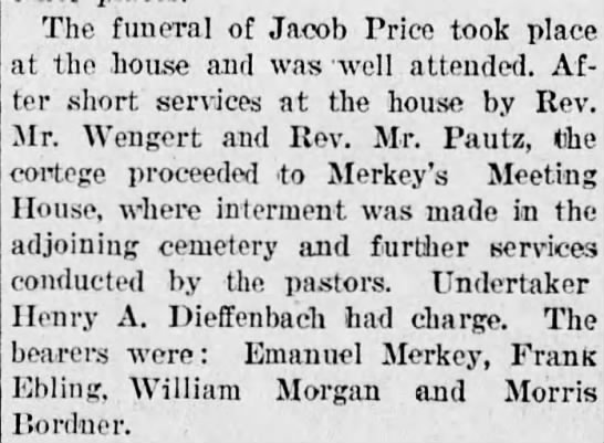 The Funeral of Jacob Price