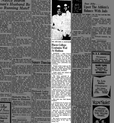 George/Fran wedding Plainsman aug/64