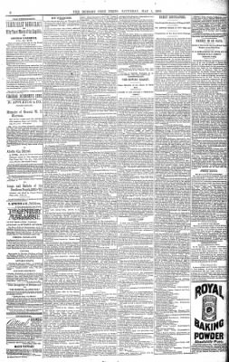 Detroit Free Press from Detroit, Michigan on May 1, 1886 · Page 8