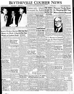 The Courier News from Blytheville, Arkansas on June 30, 1949 · Page 1