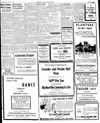 The Courier News from Blytheville, Arkansas on April 13, 1946 · Page 3