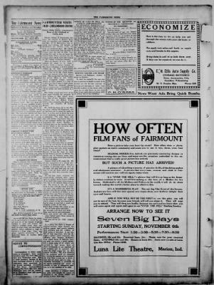 The Fairmount News from Fairmount, Indiana on November 3, 1921 · Page 4