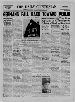 The Daily Clintonian from Clinton, Indiana on September 20, 1944 · Page 1