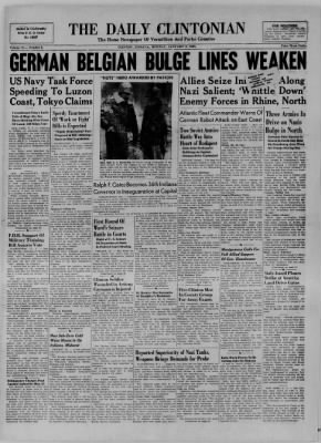 The Daily Clintonian from Clinton, Indiana on January 8, 1945 · Page 1