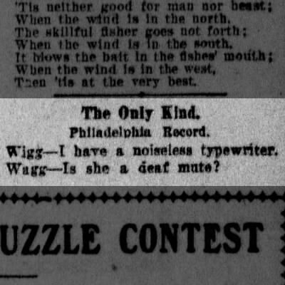 Noiseless Typewriter joke 1908