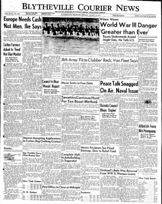 The Courier News from Blytheville, Arkansas on August 14, 1951 · Page 1