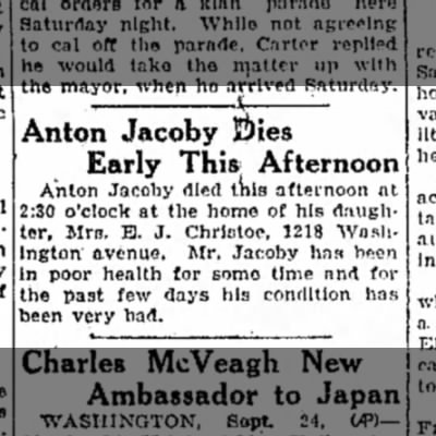 Anton Jacoby September 24, 1925