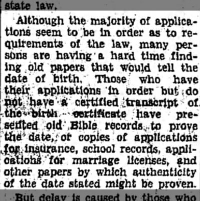Proof of Age Problem for Pensioners Finding Records Chief Task for Many Applicants Pt5