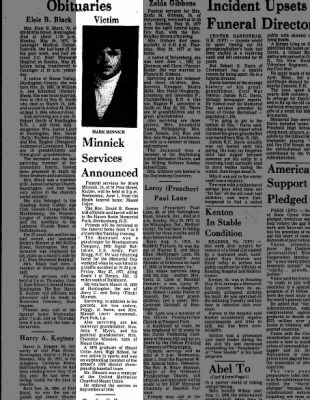 Mark Minnick, Jerry's son, Daily News, 31 May 1977 p2