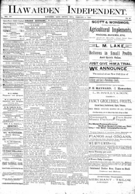 The Independent from Hawarden, Iowa on February 9, 1893 · Page 1