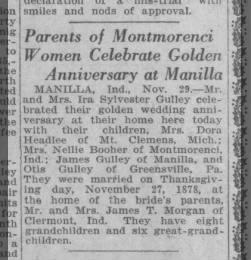 Parents of Montmorenci Women Celebrate Golden Anniversary at Manilla