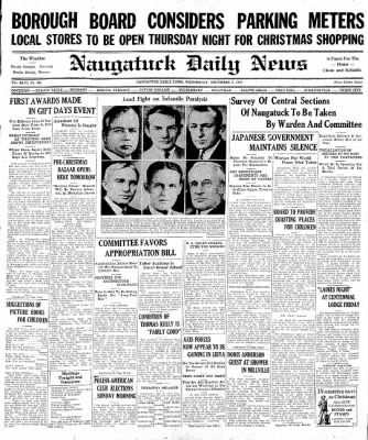 Naugatuck Daily News from Naugatuck, Connecticut on December 3, 1941 · Page 1