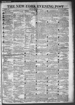 The Evening Post from New York, New York on February 16, 1818 · Page 1