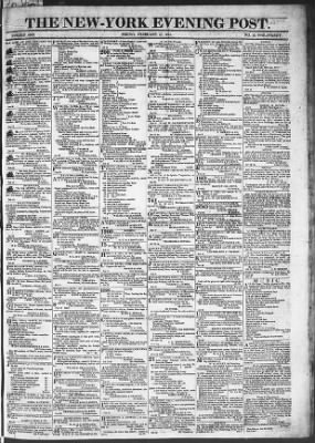 The Evening Post from New York, New York on February 27, 1818 · Page 1
