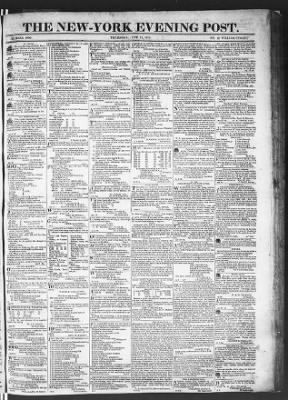 The Evening Post from New York, New York on June 11, 1818 · Page 1