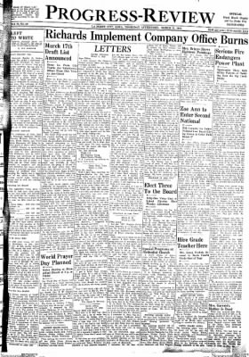 Progress-Review from La Porte City, Iowa on March 11, 1943 · Page 1