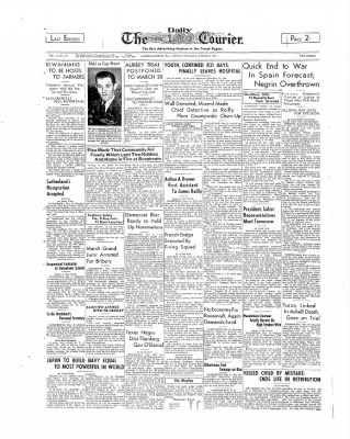 The Daily Courier from Connellsville, Pennsylvania on March 6, 1939 · Page 1