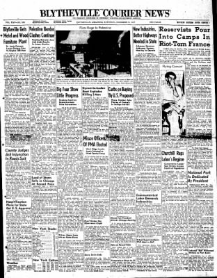 The Courier News from Blytheville, Arkansas on December 6, 1947 · Page 1