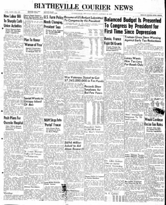 The Courier News from Blytheville, Arkansas on January 10, 1947 · Page 1