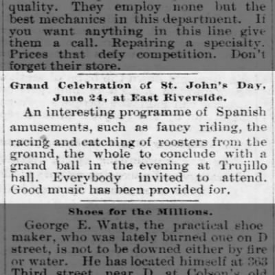 Trujillo celebration 24 Jun 1894