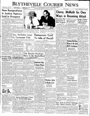 The Courier News from Blytheville, Arkansas on August 8, 1952 · Page 1