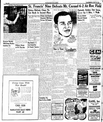 Naugatuck Daily News from Naugatuck, Connecticut on July 19, 1944 · Page 6