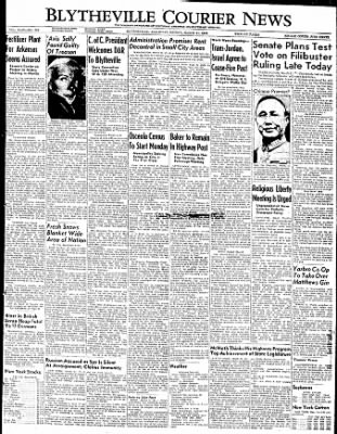 The Courier News from Blytheville, Arkansas on March 11, 1949 · Page 1