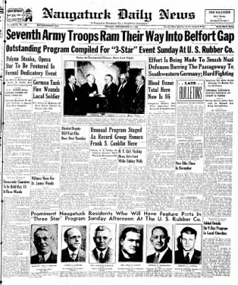 Naugatuck Daily News from Naugatuck, Connecticut on September 29, 1944 · Page 1